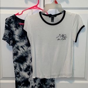 F21 crop T and regular T
